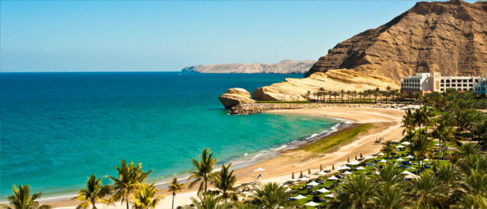 Magical beach in Yiti in Oman