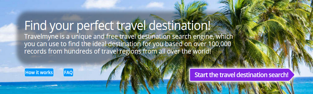 Travel destination search with Travelmyne