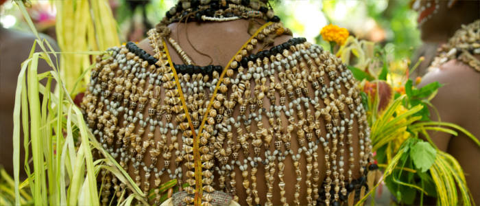 Traditional pearl jewellery in Papua New Guinea