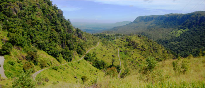 Along the mountain road in Papua New Guinea