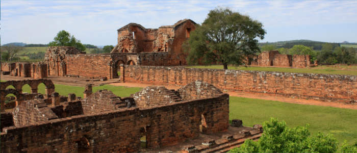 Ruin of a Jesuit site in Paraguay