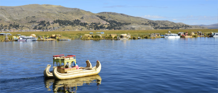 Boat tour on Lake Titicaca