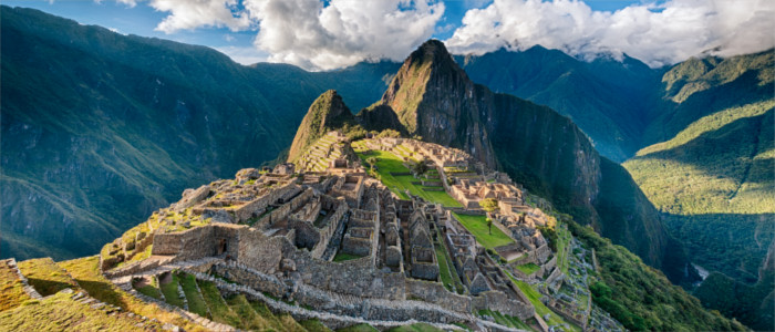 Machu Picchu in the Andes in Peru