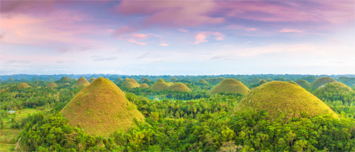 The Chocolate Hills in the Philippines