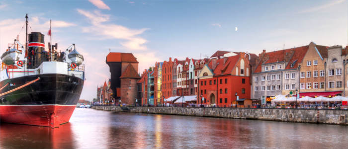 Harbour of Gdańsk in Poland