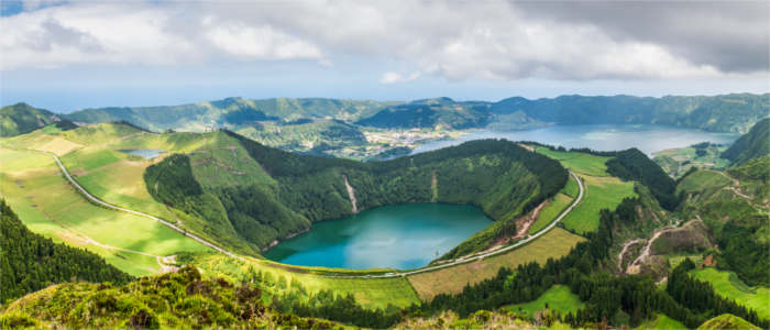 Crater lake on the Azores