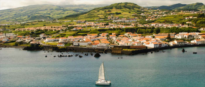 The harbour of Horta - Azores