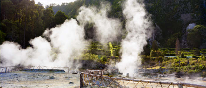 Thermal springs on the Azores