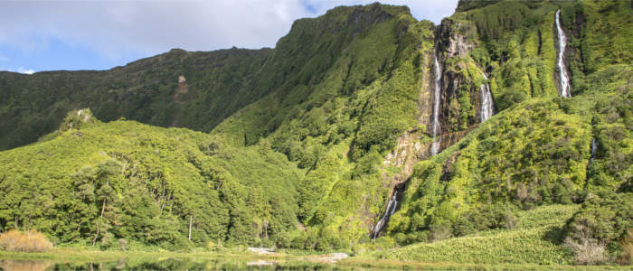 Waterfall on Flores Island - Azores
