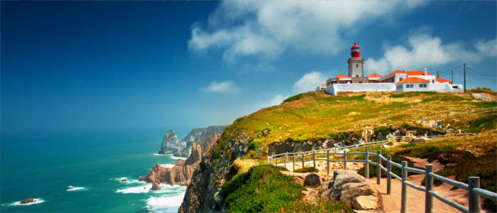 Lighthouse on the cliffs of Cabo da Roca in Portugal