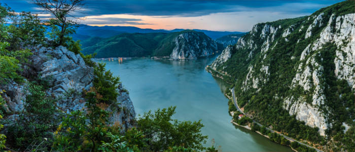 "The gorge of the ""Iron Gates"" in Romania"