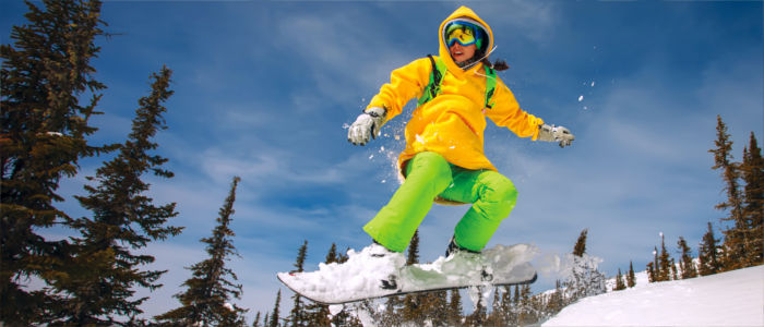 Winter sports, snowboarding and skiing in Russia