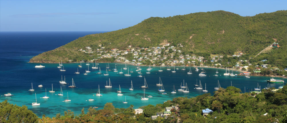 Dream bay on Saint Vincent and the Grenadines