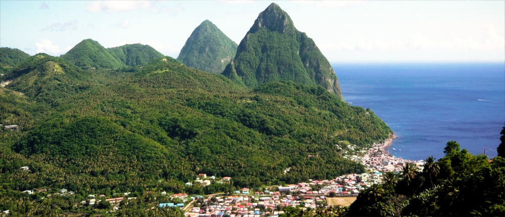 Coastal town of Soufriere