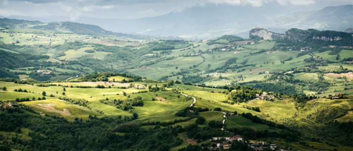 View from San Marino's mountains