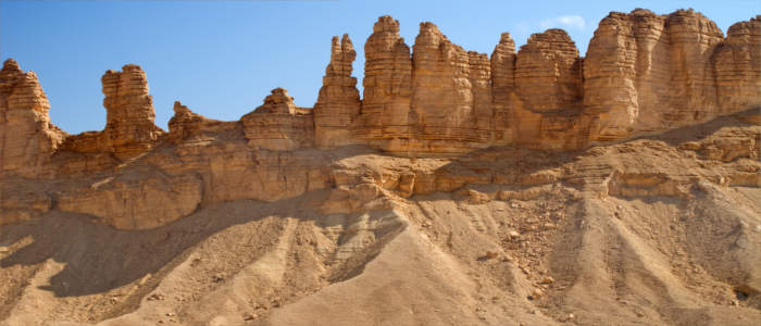 Rock formations in Saudi Arabia