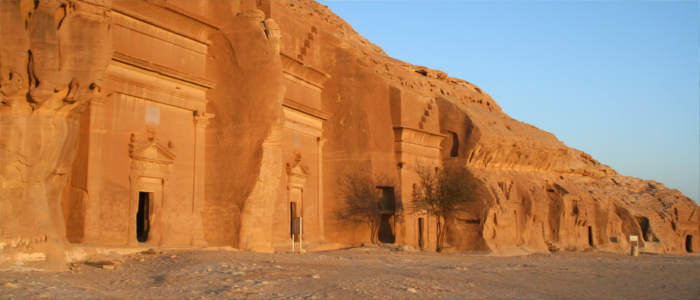 Rock cut tombs Mada'in Salih