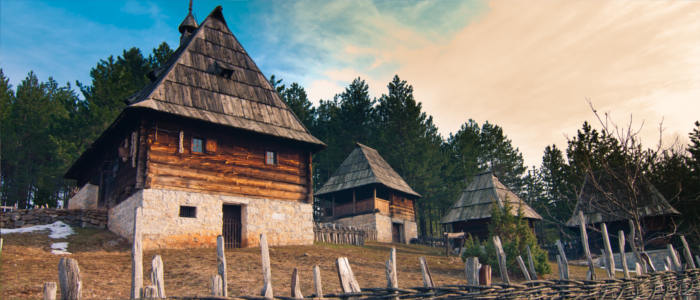 Sirogojno - ethnographic village in Serbia