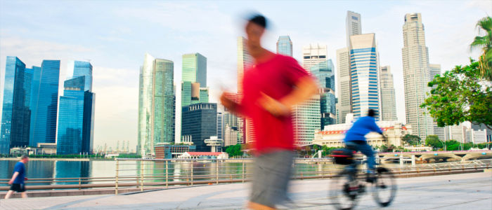 Being active in Singapore's capital