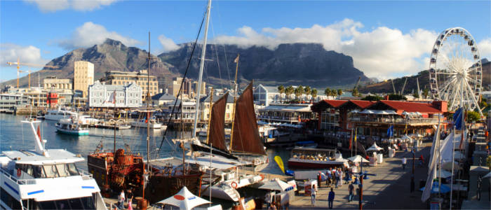 Harbour district in Cape Town