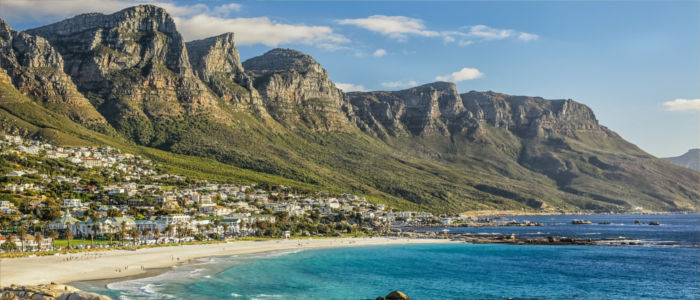 Cape Town at the seaside in South Africa