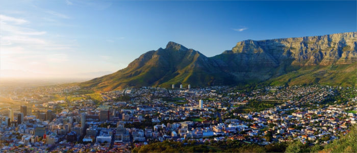 Cape Town and the Table Mountain in South Africa