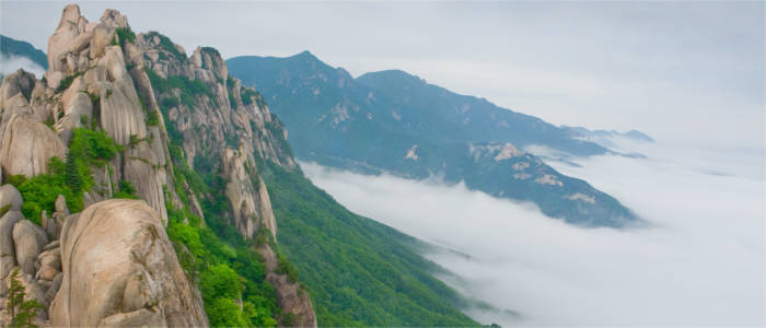 The national parks in South Korea
