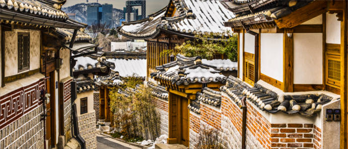 The historical part of town of Seoul