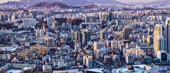 The metropolis of Seoul in South Korea