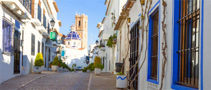 An idyllic, white town at the Costa Blanca