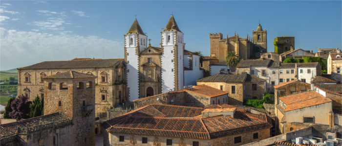 Caceres' old part of town