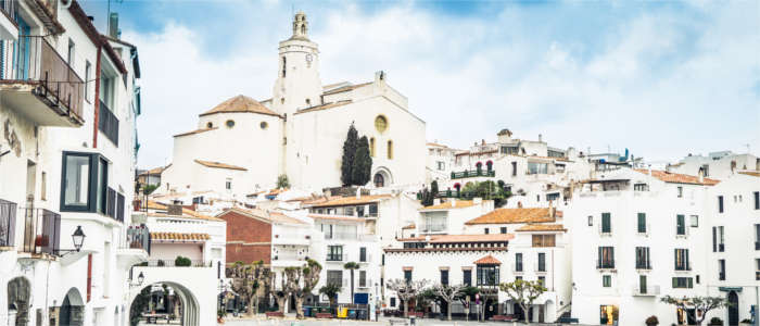 A tourist town at the Costa Brava