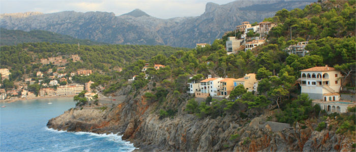 Mountains and forests at the coast on Majorca