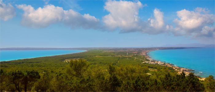 View of the island Formentera