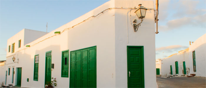 Houses on Lanzarote