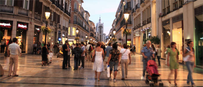 Shopping mile in Málaga