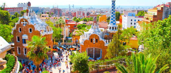 Famous park in Barcelona