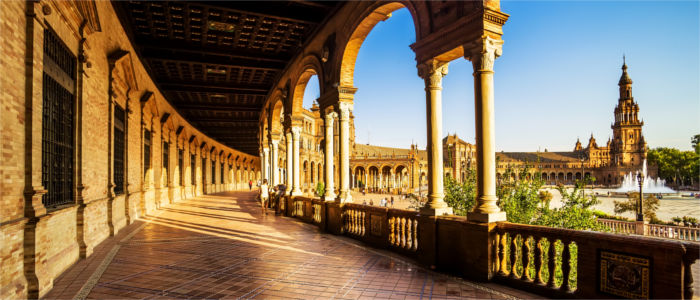 Famous square in Sevilla - Andalusia