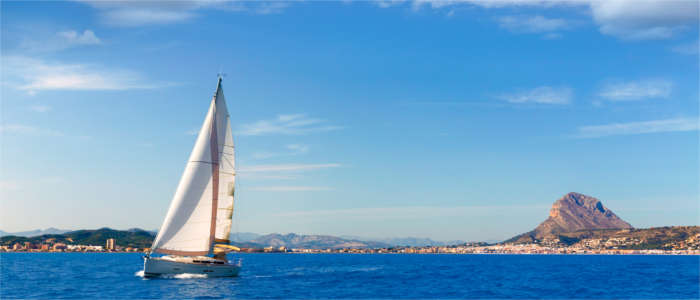 A sailing boat at the Costa Blanca
