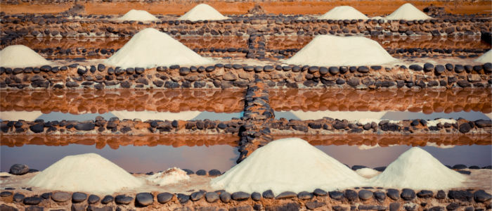 Salt production on Fuerteventura