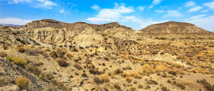 Desert landscape in Andalusia