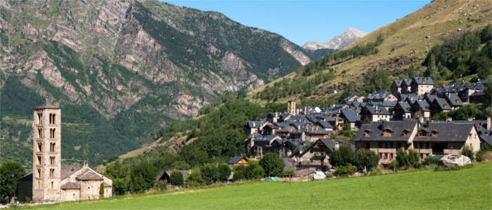 Mountain village and Romanesque church