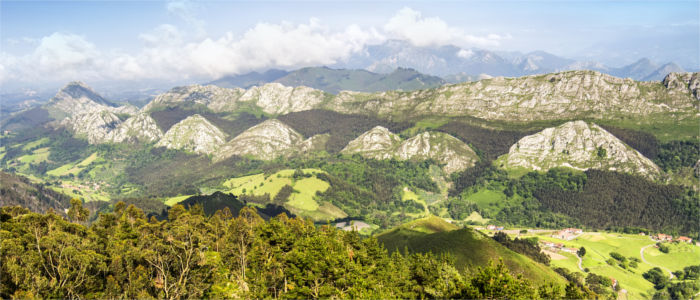 Mountain panorama in Asturias