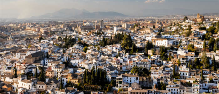 View of Granada's oldest district