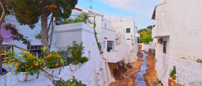White houses on Minorca