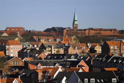Panoramic view of Aarhus