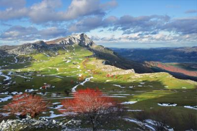 Mountains in the Basque Country