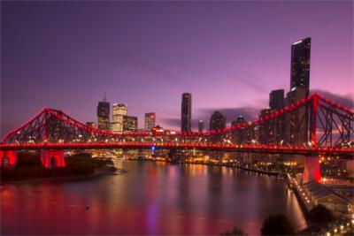 Brisbane's skyline at night