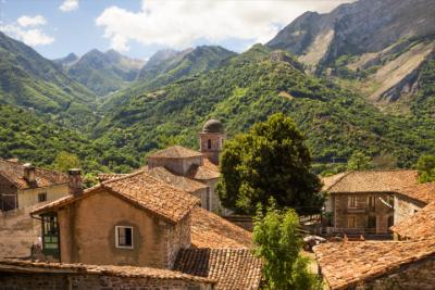 Mountain village in the Picos de Europa National Park