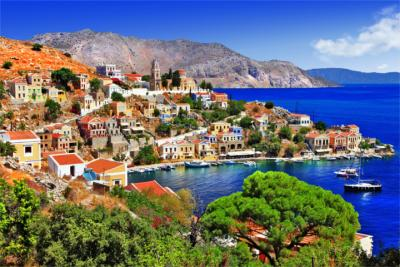 The island of Symi in the Dodecanese